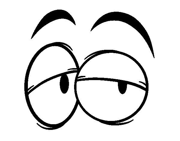 Disegno di Occhi  da Colorare