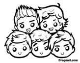 Disegno di One Direction 2 da colorare