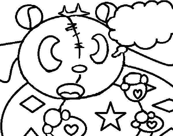 Disegno di orsacchiotto da figure geometriche da colorare for Disfare la valigia in inglese