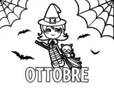 Disegno di Ottobre da colorare