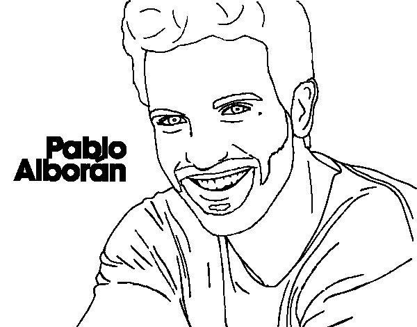 Disegno di Pablo Alborán primo piano da Colorare