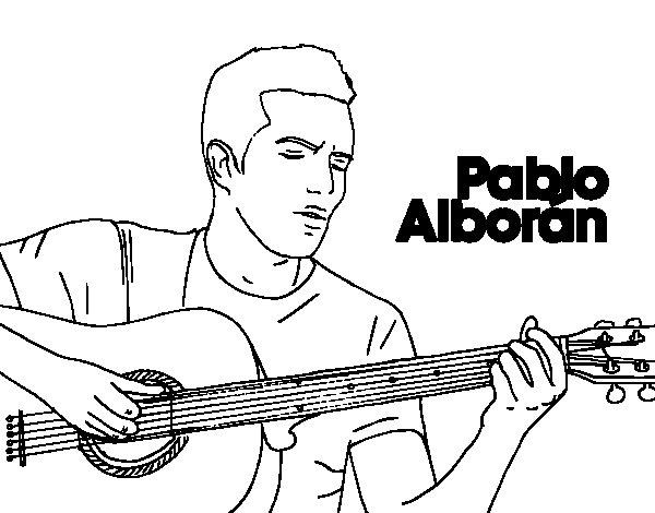 Disegno di Pablo Alborán - Solamente tú da Colorare