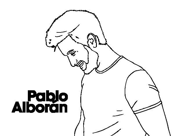 Disegno di Pablo Alborán - Tanto da Colorare