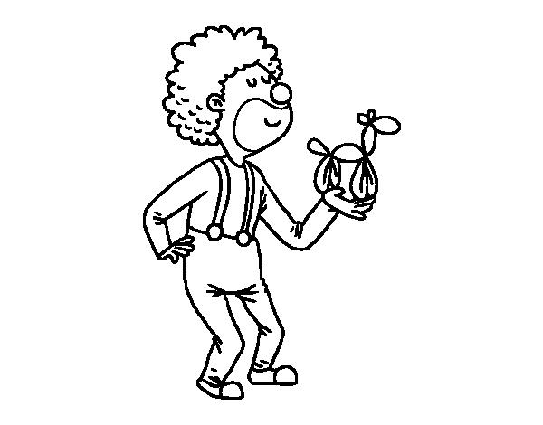 Disegno di pagliaccio con un palloncino da colorare for Disfare la valigia in inglese