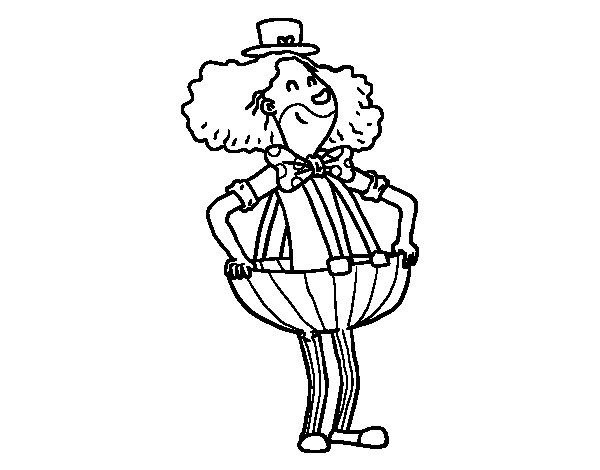 Disegno di pagliaccio in pantaloni larghi da colorare for Disfare la valigia in inglese