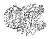 Disegno di Palla di Natale con decorazione da colorare