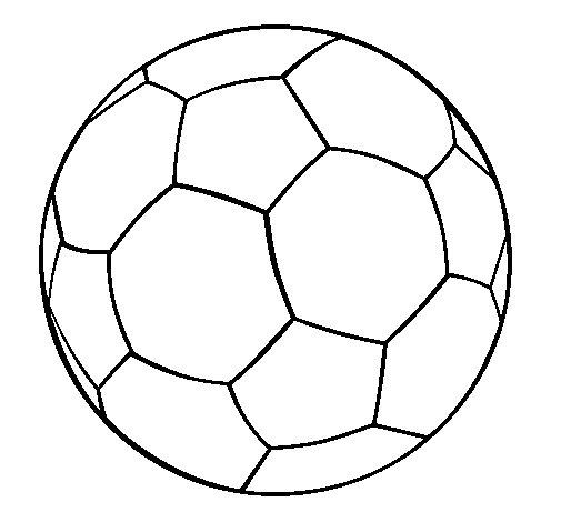 Disegno di pallone da calcio ii da colorare - Pagina da colorare di un pallone da calcio ...