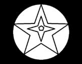 Disegno di Pallone stella da colorare