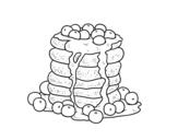 Disegno di Pancakes da colorare