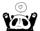 Disegno di Panda amore da colorare