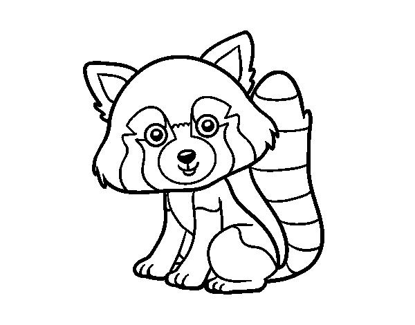 Dessin Pixel Panda Roux