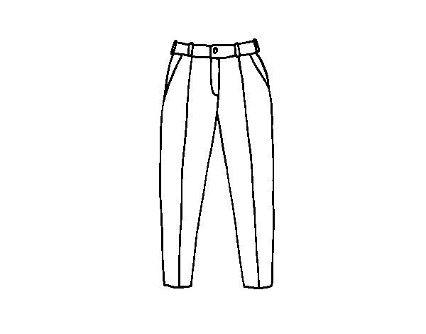 Disegno di Pantaloni a pieghe da Colorare