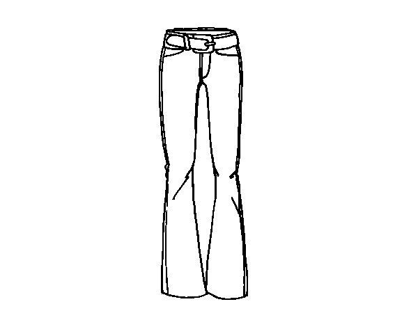 Disegno di Pantaloni a zampa di elefante da Colorare
