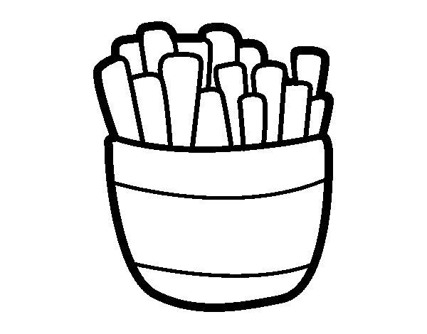 Disegno di patatine fritte da colorare for Immagini da colorare di pesci
