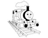 Disegno di Percy la piccola locomotiva da colorare