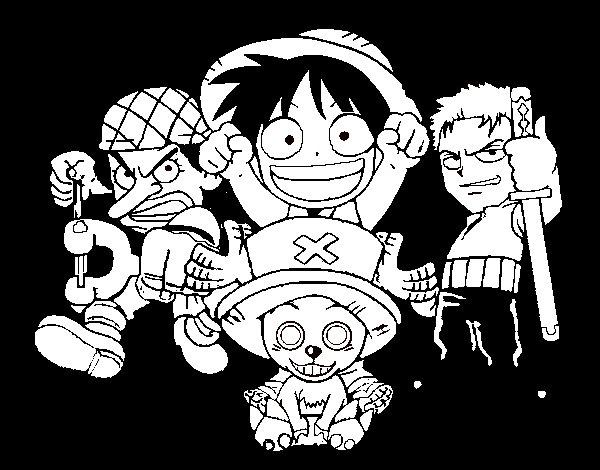 Disegno di Personaggi One Piece da Colorare