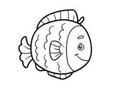 Disegno di Pesce infanzia da colorare