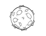 Disegno di Pianeta con crateri da colorare