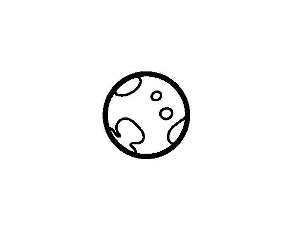 Disegno di Pianeta Plutone da Colorare
