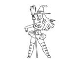 Dibujo de Piccola strega sexy