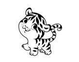 Disegno di Piccolo tigre da colorare