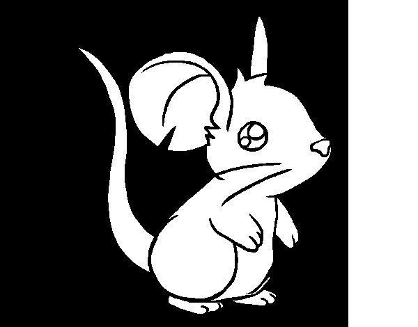 Disegno di Piccolo topo da Colorare