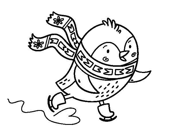 Molto Disegno di Piccolo uccelli pattinatore da Colorare - Acolore.com FK95