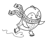 Disegno di Piccolo uccelli pattinatore da colorare