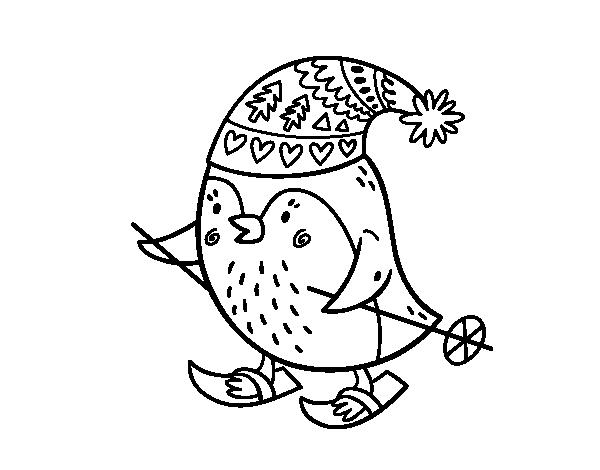 Disegno di piccolo uccello che scia da colorare for Disfare la valigia in inglese