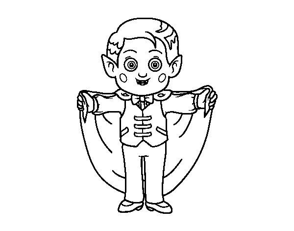 Disegno di Piccolo vampiro da Colorare