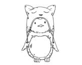 Dibujo de Pinguino con il cappello divertente