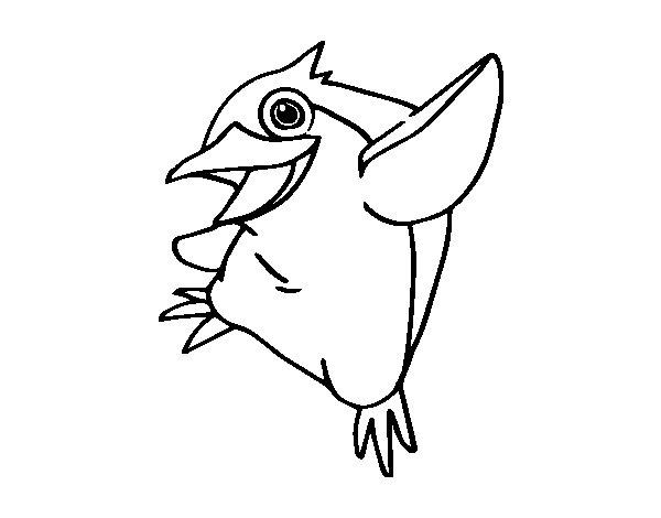 Disegno di Pinguino minore blu da Colorare