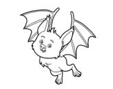 Disegno di Pipistrello simpatic da colorare