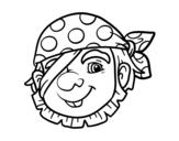 Disegno di Pirata semplice da colorare
