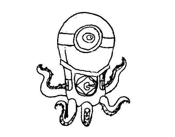Disegno di polpo minion da colorare for Minions disegni da colorare