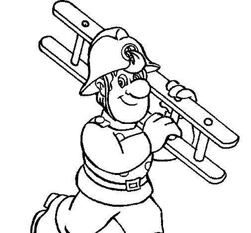 Disegno di Pompiere  8 da Colorare