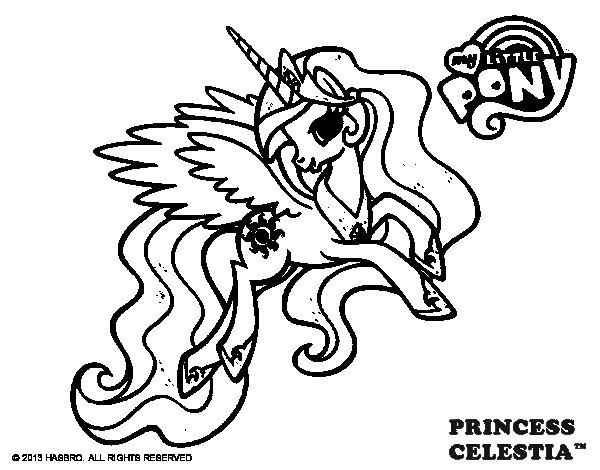 Disegno di Princess Celestia da Colorare
