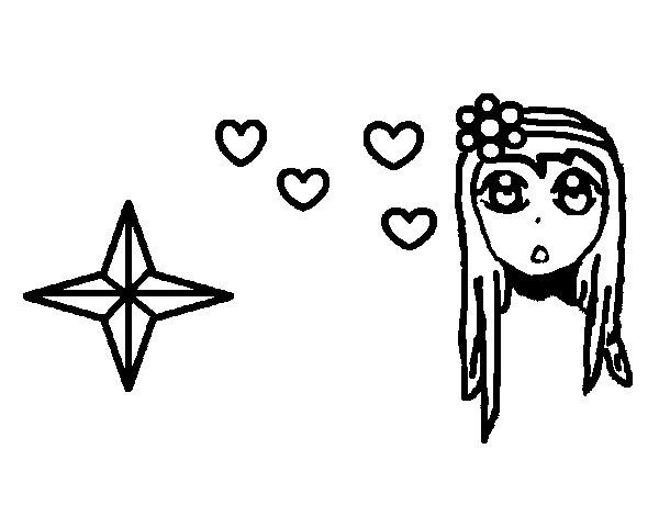 Disegno di Principessa carino da Colorare