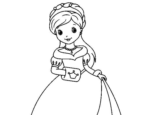 Disegno di Principessa eleganza da Colorare