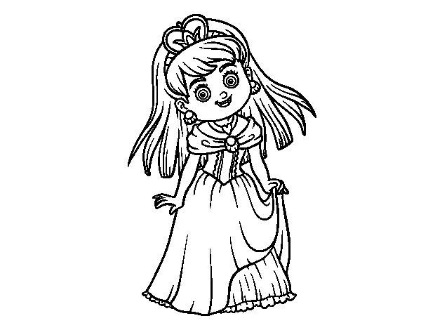 Disegno di Principessa incantevole da Colorare