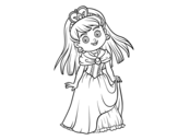 Dibujo de Principessa incantevole
