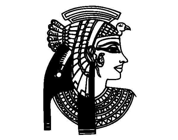 Disegno di Profilo di Cleopatra da Colorare