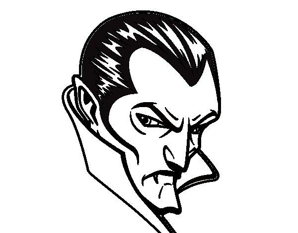 Disegno di Profilo di Dracula da Colorare