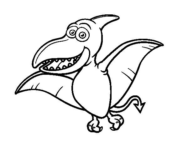 Disegno di Pterosauro da Colorare