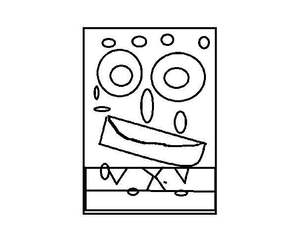 Disegno di Quadrato SpongeBob da Colorare