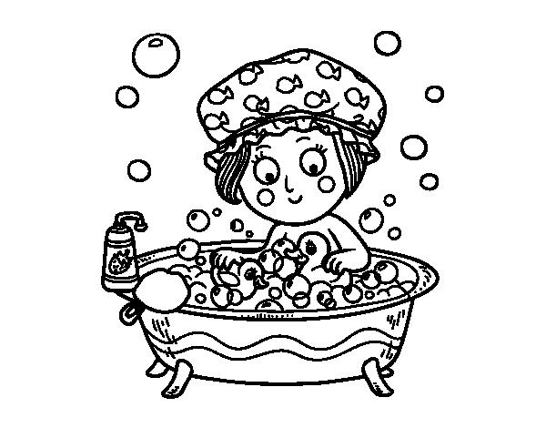 Colorare acqua vasca da bagno vasca da bagno angolare - Vasca da bagno bambini ...