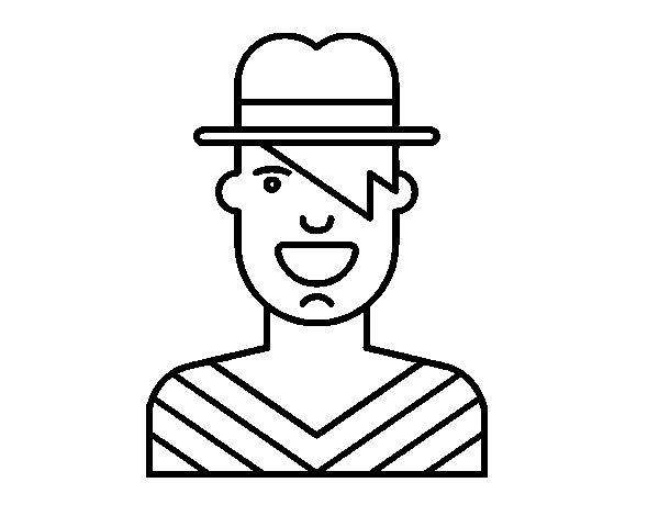 Disegno di Ragazzo con il cappello da Colorare