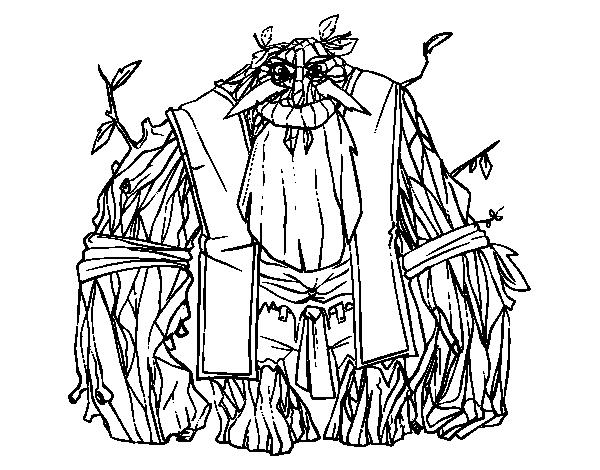 Disegno di re dei boschi da colorare for Disfare la valigia in inglese