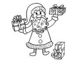 Disegno di Regali da Babbo Natale da colorare
