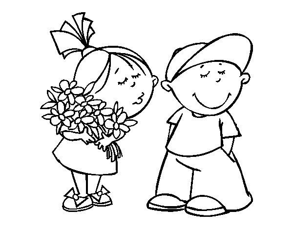 Disegno di Regalo di San Valentino da Colorare